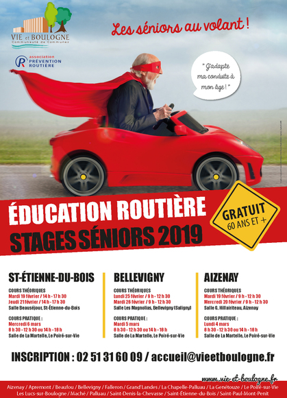 affiche education routiere seniors