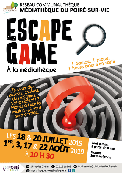 ESCAPE GAME PSV ETE 2019